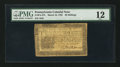 Colonial Notes:Pennsylvania, Pennsylvania March 16, 1785 20s PMG Fine 12.. ...