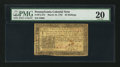 Colonial Notes:Pennsylvania, Pennsylvania March 16, 1785 20s PMG Very Fine 20.. ...