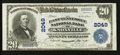 National Bank Notes:Tennessee, Knoxville, TN - $20 1902 Plain Back Fr. 654 The East Tennessee NBCh. # 2049. ...