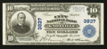 National Bank Notes:Tennessee, Knoxville, TN - $10 1902 Plain Back Fr. 626 The City NB Ch. # 3837....