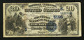 National Bank Notes:Kentucky, Louisville, KY - $20 1882 Date Back Fr. 555 The Southern NB Ch. #(S)5195. ...
