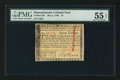 Colonial Notes:Massachusetts, Massachusetts May 5, 1780 $7 PMG About Uncirculated 55 EPQ.. ...