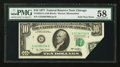 Error Notes:Foldovers, Fr. 2023-G $10 1977 Federal Reserve Note. PMG Choice About Unc 58.....
