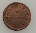 Colombia, Colombia: Popayan Provincial Copper 2 Reales,...
