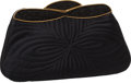 """Luxury Accessories:Bags, Judith Leiber Black Satin Clutch Evening Bag with Black CrystalFrame Closure, 9"""" x 5"""" x 2"""", Excellent Condition. ..."""