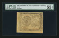 Colonial Notes:Continental Congress Issues, Continental Currency September 26, 1778 $40 PMG About Uncirculated55 EPQ.. ...