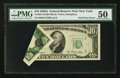 Error Notes:Foldovers, Fr. 2011-B $10 1950A Federal Reserve Note. PMG About Uncirculated50.. ...