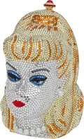 "Luxury Accessories:Bags, Kathrine Baumann Rare #5/50 Full Bead Blond Barbie Minaudiere, 4"" x6"" x 3"", Excellent Condition. ..."