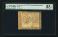 Colonial Notes:Continental Congress Issues, Continental Currency January 14, 1779 $3 PMG About Uncirculated 55EPQ.. ...