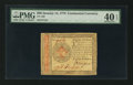 Colonial Notes:Continental Congress Issues, Continental Currency January 14, 1779 $80 PMG Extremely Fine 40EPQ.. ...