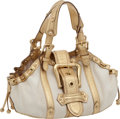 "Luxury Accessories:Bags, Louis Vuitton Beige Canvas and Gold Trim Rare Theda Bag, 12"" x 8"" x4"", Very Good Condition. ..."