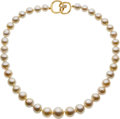 Estate Jewelry:Necklaces, South Sea Cultured Pearl, Diamond, Gold Necklace, Angela Cummings....
