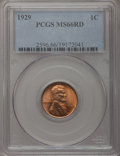 Lincoln Cents: , 1929 1C MS66 Red PCGS. PCGS Population (389/45). NGC Census:(368/74). Mintage: 185,262,000. Numismedia Wsl. Price for prob...
