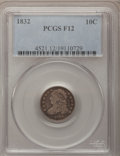 Bust Dimes: , 1832 10C Fine 12 PCGS. PCGS Population (1/290). NGC Census:(3/252). Mintage: 522,500. Numismedia Wsl. Price for problem fr...