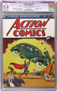 Action Comics #1 (DC, 1938) CGC Apparent VG/FN 5.0 Extensive (P) Off-white pages