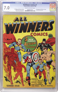 All Winners Comics #1 (Timely, 1941) CGC FN/VF 7.0 Cream to off-white pages