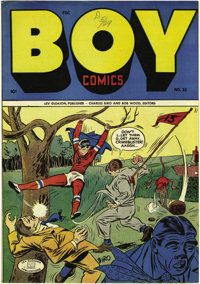Boy Comics #23 (Lev Gleason, 1945) Condition: NM. Crimebuster is the lead feature here, and he's drawn by Charles Biro o...