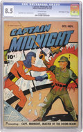 "Golden Age (1938-1955):War, Captain Midnight #34 Davis Crippen (""D"" Copy) pedigree (Fawcett,1945) CGC VF+ 8.5 Off-white pages...."
