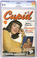 "Golden Age (1938-1955):Romance, Cupid #2 Davis Crippen (""D"" Copy) pedigree (Marvel, 1950) CGC VF8.0 Off-white pages. Overstreet cites this dreamy photo cov..."