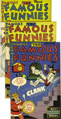 "Golden Age (1938-1955):Miscellaneous, Famous Funnies #150-159 Group - Davis Crippen (""D Copy"") pedigree (Eastern Color, 1947).... (Total: 10)"