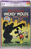 Golden Age (1938-1955):Cartoon Character, Four Color (Series One) #16 Mickey Mouse (Dell, 1941) CGC ApparentVG+ 4.5 Slight (P) Off-white to white pages....
