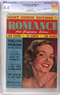 "Golden Age (1938-1955):Romance, Giant Comics Edition #9 Romance and Confession Stories - DavisCrippen (""D"" Copy) pedigree (St. John, 1949) CGC FN 6.0 Off-whi..."