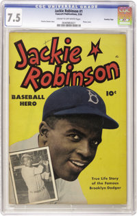 Jackie Robinson #nn Crowley Copy pedigree (Fawcett, 1950) CGC VF- 7.5 Cream to off-white pages