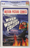 "Golden Age (1938-1955):Science Fiction, Motion Picture Comics #110 ""When Worlds Collide"" - Crowley pedigree(Fawcett, 1952) CGC NM 9.4 Off-white pages. The science ..."