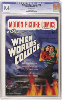 """Motion Picture Comics #110 """"When Worlds Collide"""" - Crowley pedigree (Fawcett, 1952) CGC NM 9.4 Off-white pages..."""