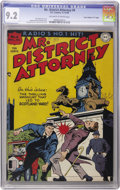 "Golden Age (1938-1955):Crime, Mr. District Attorney #6 Davis Crippen (""D"" Copy) pedigree (DC, 1948) CGC NM- 9.2 Off-white to white pages...."