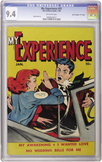 """My Experience #21 Davis Crippen (""""D"""" copy) pedigree (Fox Features Syndicate, 1950) CGC NM 9.4 Off-white pages..."""