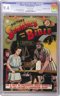 "Golden Age (1938-1955):Religious, Picture Stories from the Bible New Testament Edition #1 DavisCrippen (""D"" Copy) pedigree (DC, 1944) CGC NM 9.4 Off-white page..."