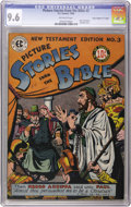"Golden Age (1938-1955):Religious, Picture Stories from the Bible New Testament Edition #3 DavisCrippen (""D Copy"") pedigree (EC, 1946) CGC NM+ 9.6 Off-white pag..."