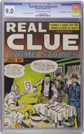 """Golden Age (1938-1955):Crime, Real Clue Crime Stories V2#5 Davis Crippen (""""D"""" Copy) pedigree (Hillman Fall, 1947) CGC VF/NM 9.0 Cream to off-white pages...."""