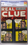 """Golden Age (1938-1955):Crime, Real Clue Crime Stories V2#6 Davis Crippen (""""D"""" Copy) pedigree (Hillman Fall, 1947) CGC VF/NM 9.0 Cream to off-white pages...."""