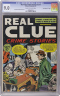 """Golden Age (1938-1955):Crime, Real Clue Crime Stories V2#7 Davis Crippen (""""D"""" Copy) pedigree (Hillman Fall, 1947) CGC VF/NM 9.0 Cream to off-white pages...."""