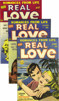 """Golden Age (1938-1955):Romance, Real Love Group Davis Crippen (""""D"""" Copy) pedigree (Ace Periodicals,1949-53) .... (Total: 21)"""
