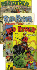 "Golden Age (1938-1955):Western, Red Ryder Comics #14-23 Group - Davis Crippen (""D"" Copy) pedigree(Dell, 1943-45).... (Total: 10)"