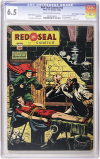 "Red Seal Comics #14 Davis Crippen (""D"" Copy) pedigree (Chesler, 1945) CGC FN+ 6.5 Cream to off-white pages"