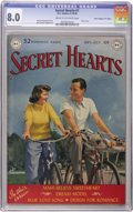 "Golden Age (1938-1955):Romance, Secret Hearts #1 Davis Crippen (""D"" Copy) pedigree (DC, 1949) CGCVF 8.0 Cream to off-white pages...."