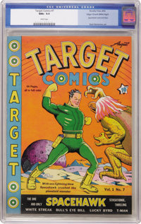 Target Comics #7 Mile High pedigree (Novelty Press, 1940) CGC NM+ 9.6 White pages