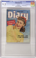 "Golden Age (1938-1955):Romance, Teen-Age Diary Secrets #7 Davis Crippen (""D"" Copy) pedigree (St.John, 1949) CGC NM- 9.2 White pages...."