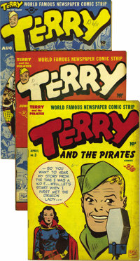 """Terry and the Pirates Group - Davis Crippen (""""D Copy"""") pedigree (Harvey and K. K. Publications, 1938-51).... (..."""