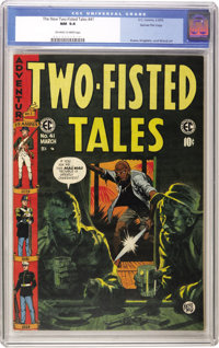 Two-Fisted Tales #41 Gaines File pedigree 3/12 (EC, 1955) CGC NM 9.4 Off-white to white pages
