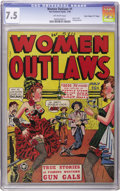 """Golden Age (1938-1955):Western, Women Outlaws #1 Davis Crippen (""""D"""" Copy) pedigree (Fox Features Syndicate, 1948) CGC VF- 7.5 Off-white pages...."""