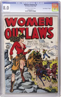 """Golden Age (1938-1955):Crime, Women Outlaws #2 Davis Crippen (""""D"""" Copy) pedigree (Fox Features Syndicate, 1948) CGC VF 8.0 Off-white to white pages...."""