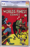 Golden Age (1938-1955):Superhero, World's Finest Comics #31 (DC, 1947) CGC VF/NM 9.0 White pages. Not only does the spine of this square bound book look excel...
