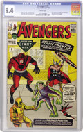 Silver Age (1956-1969):Superhero, The Avengers #2 (Marvel, 1963) CGC NM 9.4 White pages....
