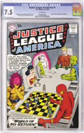 Silver Age (1956-1969):Superhero, Justice League of America #1 (DC, 1960) CGC VF- 7.5 White pages....
