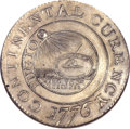 Colonials, 1776 $1 Continental Dollar, CURENCY, Pewter MS62 NGC. Newman 1-C,W-8445, R.3....